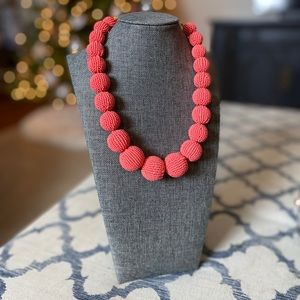 jcrew coral bead necklace